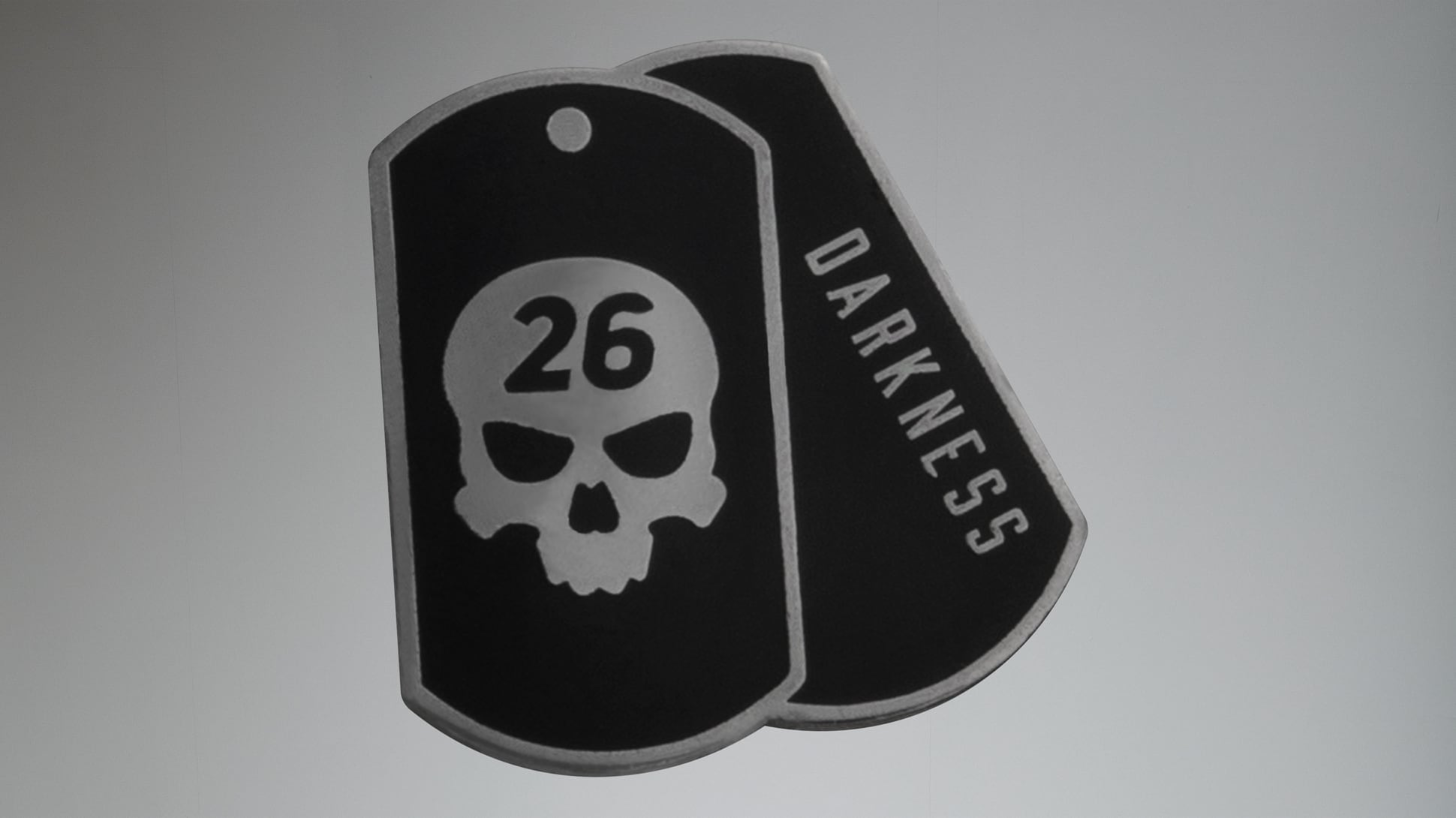 Darkness Dog Tag Ball Marker Image 1