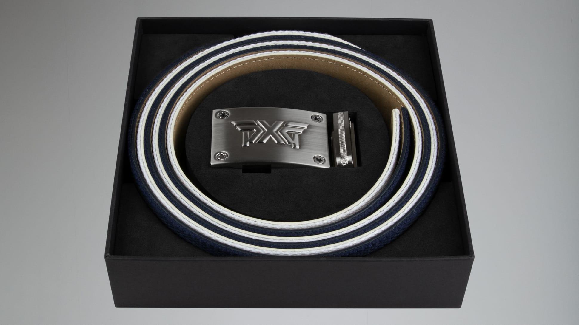 Ratchet Belt - Navy/White Image 2