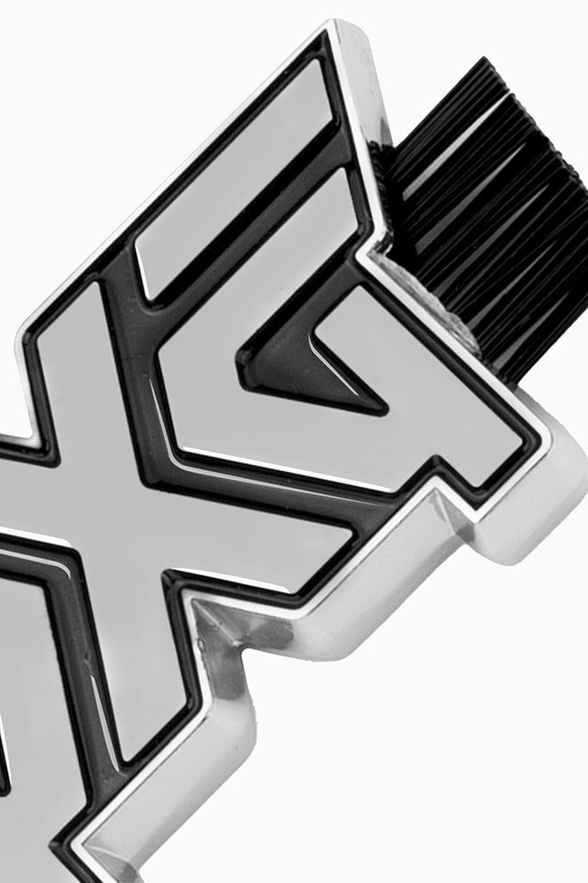 Dual-Sided Chrome Wedge Brush Image 2
