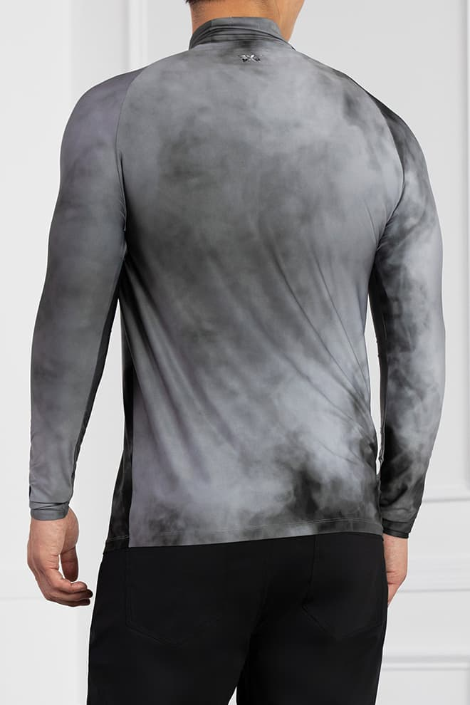 Smoking Hot Print Long Sleeve Mock Neck Image 3