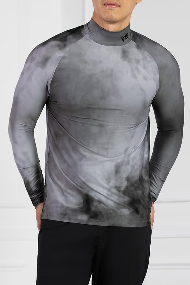 Smoking Hot Print Long Sleeve Mock Neck Image 1