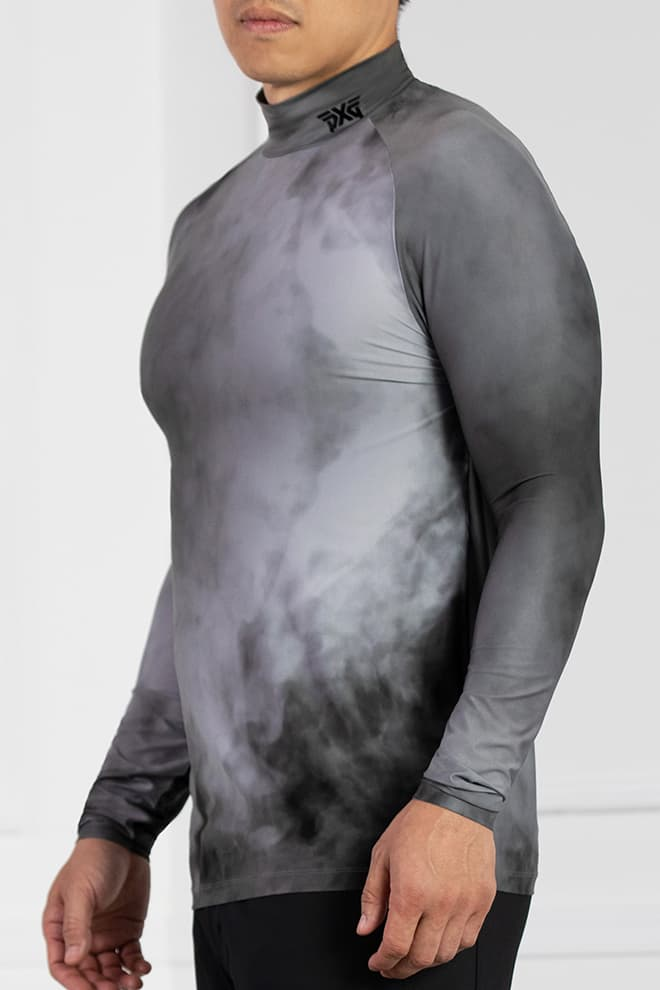Smoking Hot Print Long Sleeve Mock Neck Image 2