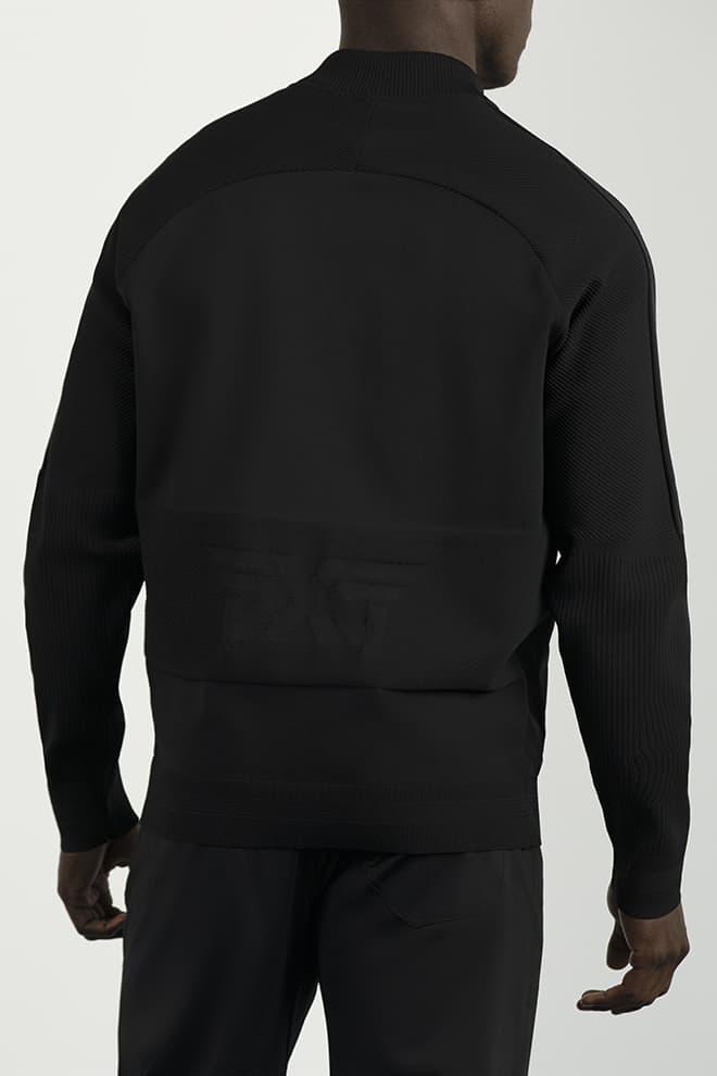 Full-Zip Hybrid Knit Logo Jacket Image 4