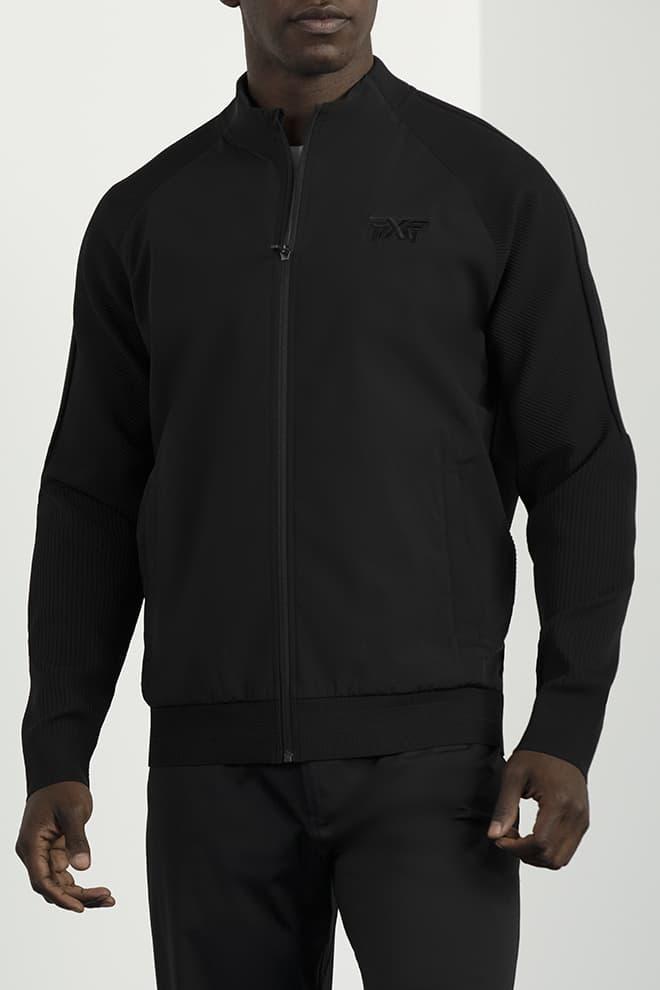 Full-Zip Hybrid Knit Logo Jacket Image 1
