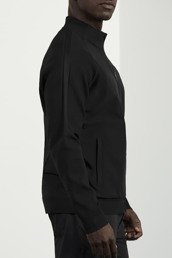 Full-Zip Hybrid Knit Logo Jacket Image 2