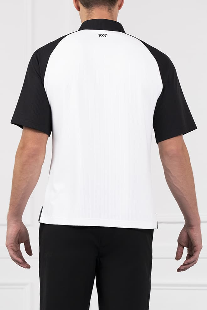 Athletic Fit Color Block Raglan Sleeve Polo Image 2