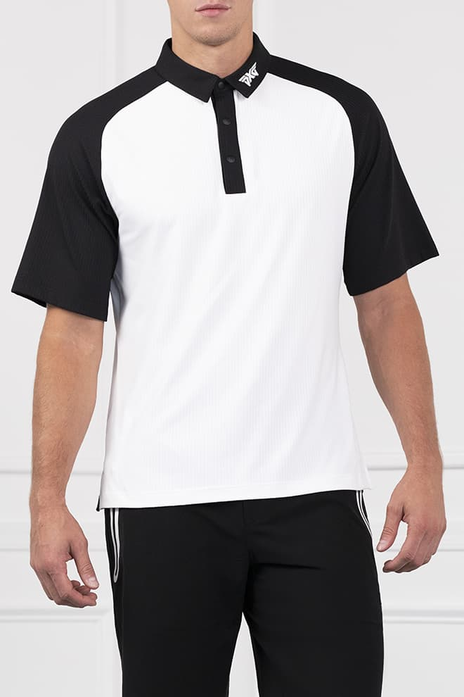 Athletic Fit Color Block Raglan Sleeve Polo Image 1
