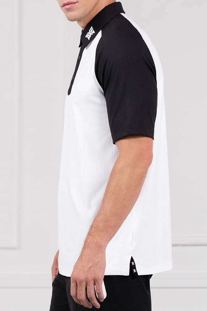 Comfort Fit Color Block Raglan Sleeve Polo Image 2