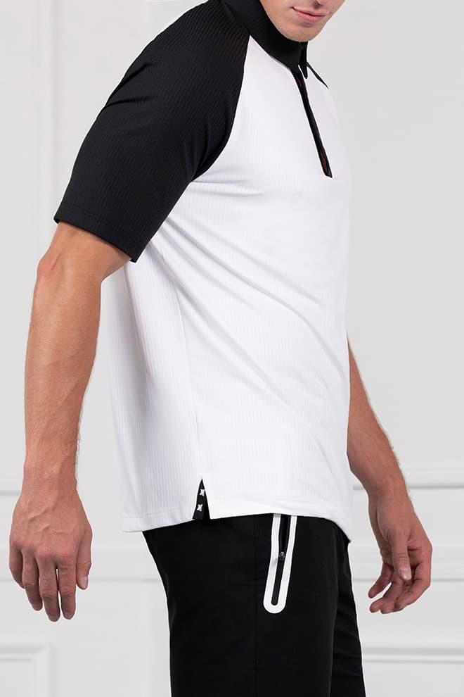 Comfort Fit Color Block Raglan Sleeve Polo Image 3