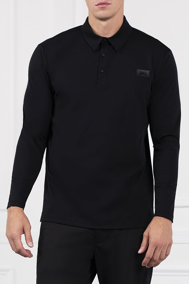 Everyday Luxe Long Sleeve Polo Image 1