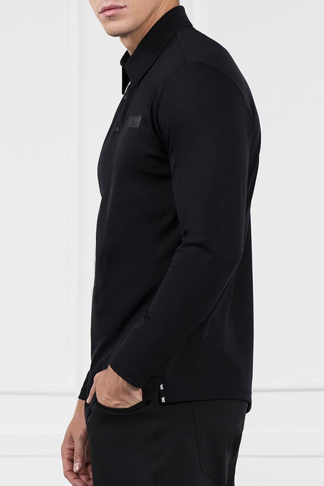 Everyday Luxe Long Sleeve Polo Image 2