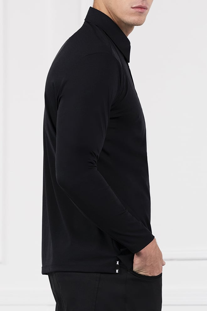 Everyday Luxe Long Sleeve Polo Image 3