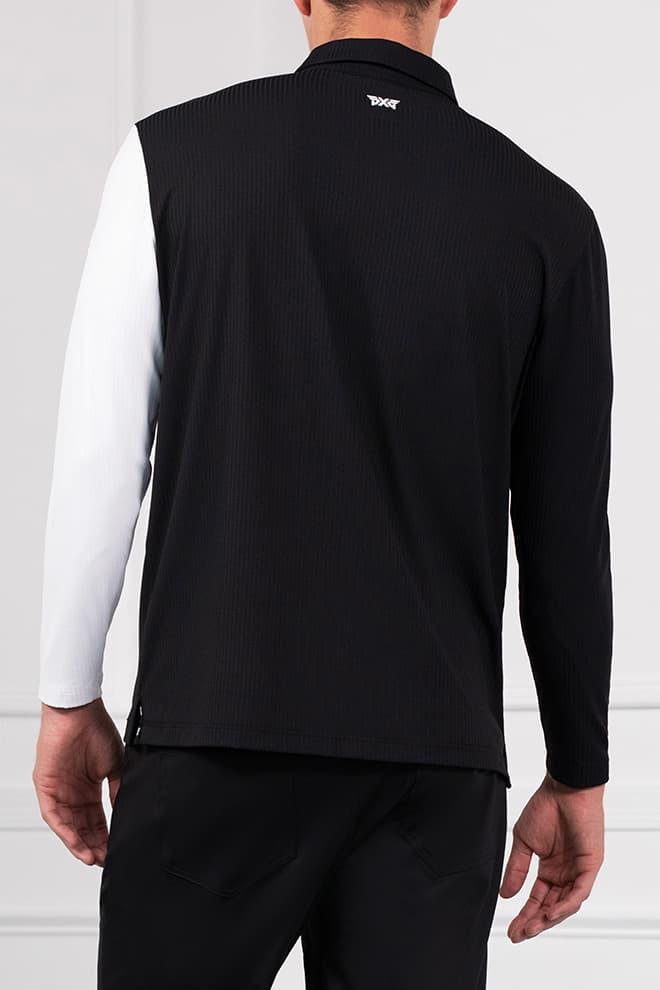 Long Sleeve Block Sleeve Polo Image 4