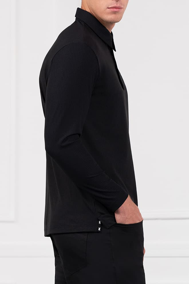 Long Sleeve Block Sleeve Polo Image 2