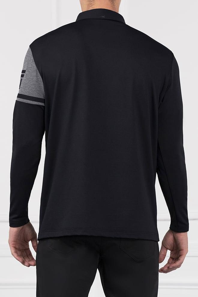 Long Sleeve Shoulder Block Polo Image 4