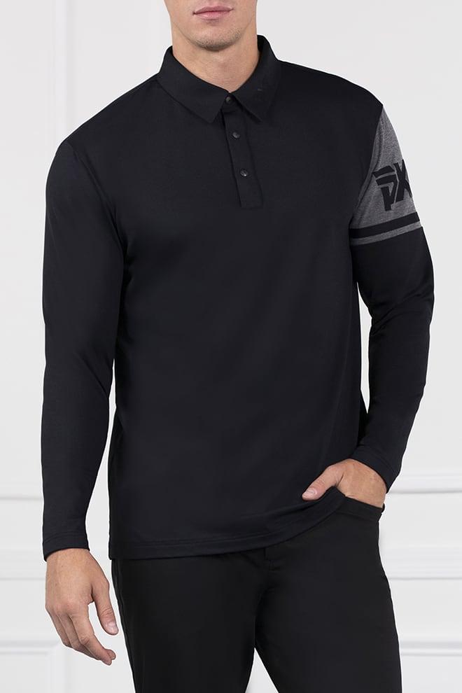 Long Sleeve Shoulder Block Polo Image 1