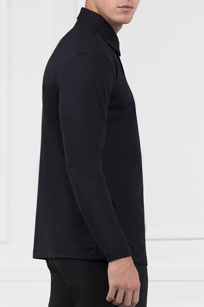 Long Sleeve Shoulder Block Polo Image 3