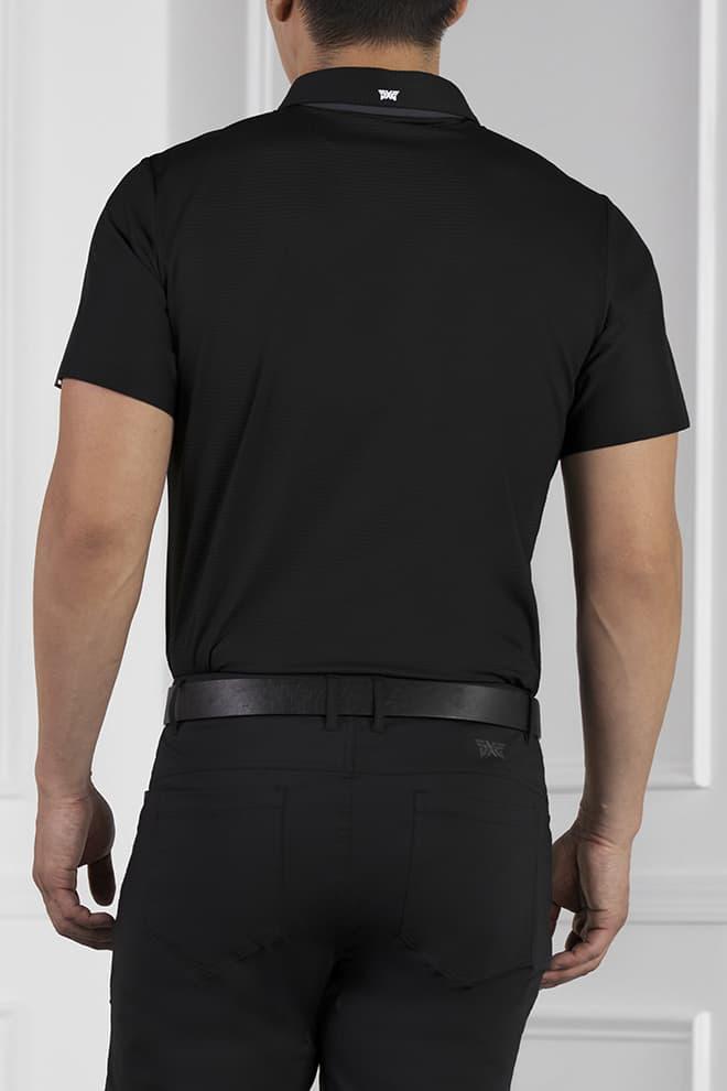 Athletic Fit Shoulder Block Polo Image 4