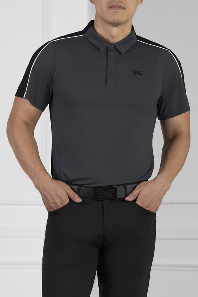 Athletic Fit Shoulder Block Polo Image 1
