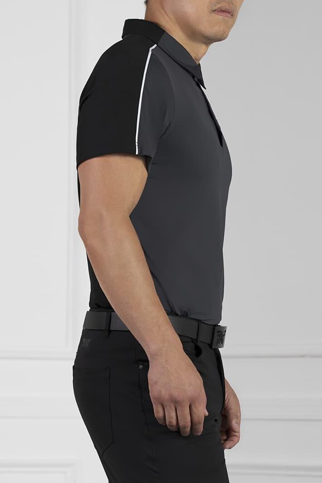 Athletic Fit Shoulder Block Polo Image 3