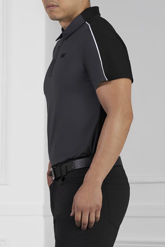Athletic Fit Shoulder Block Polo Image 2