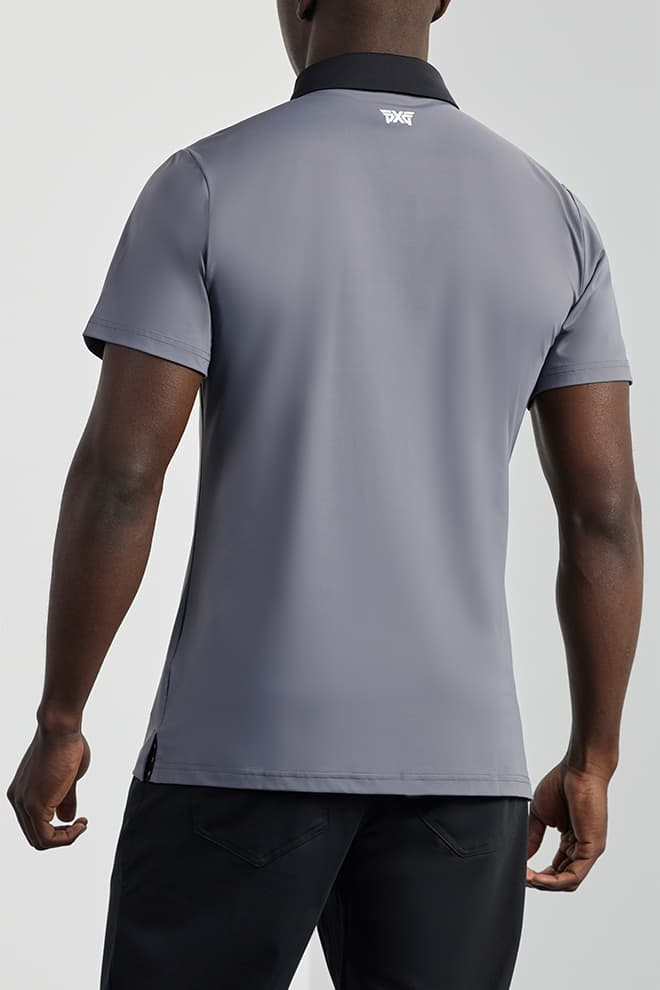 Athletic Fit Gray Tech Polo Image 2