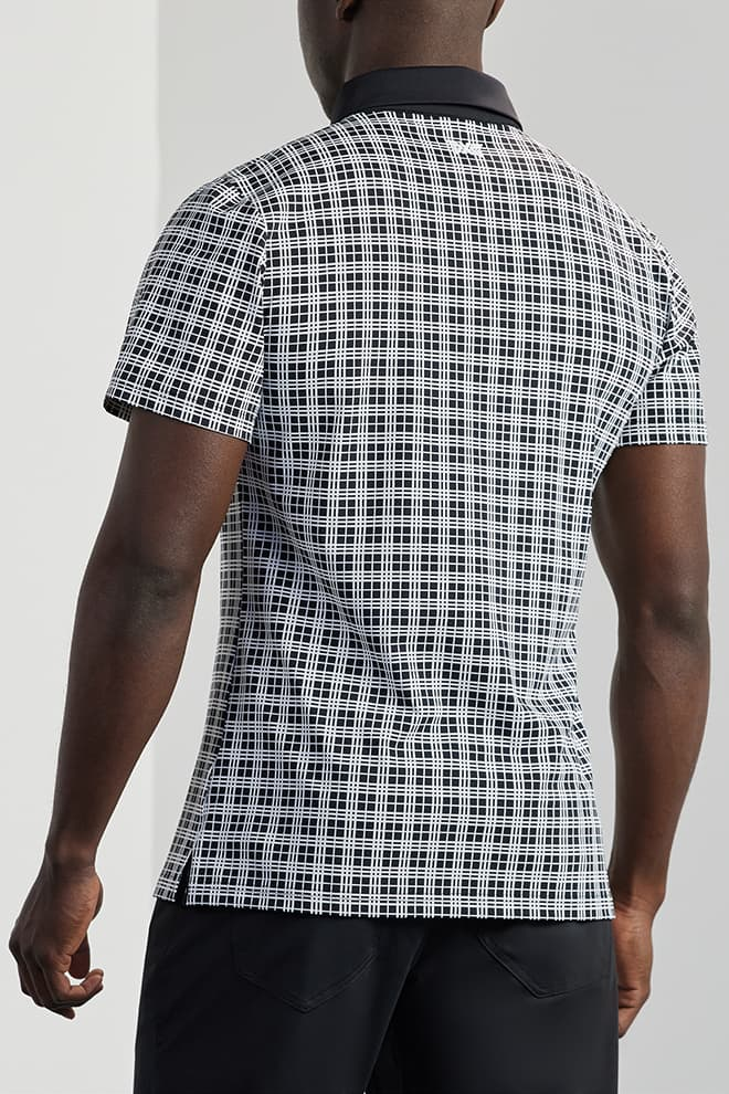 Athletic Fit Performance Plaid Polo Image 2