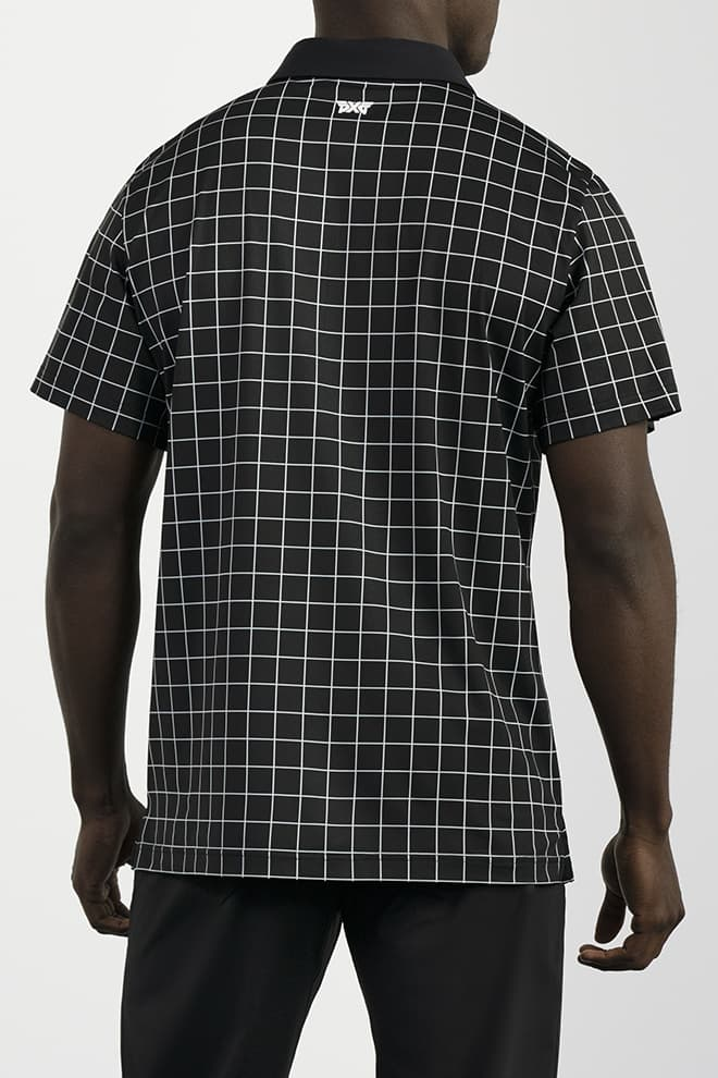 Athletic Fit Checkered Polo Image 4