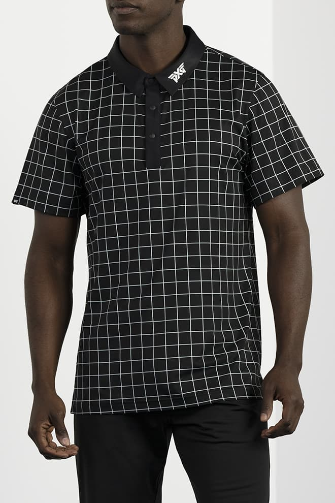 Athletic Fit Checkered Polo Image 1