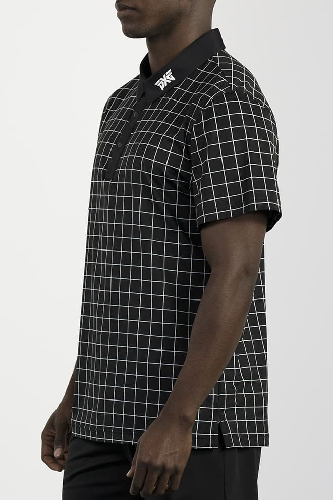 Athletic Fit Checkered Polo Image 2