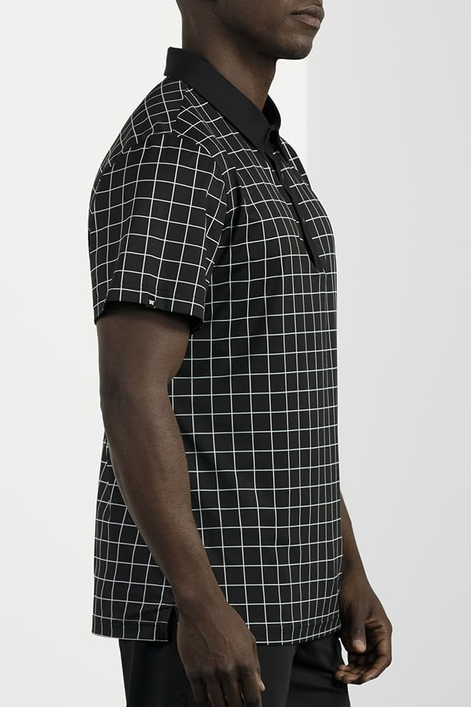 Athletic Fit Checkered Polo Image 3
