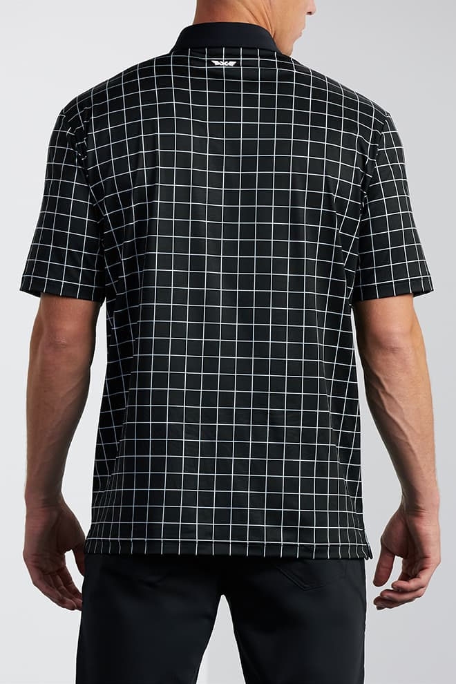 Comfort Fit Checkered Polo Image 3