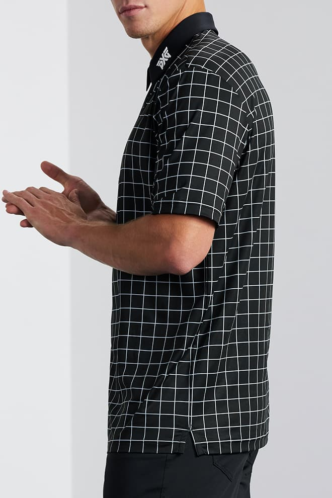 Comfort Fit Checkered Polo Image 2
