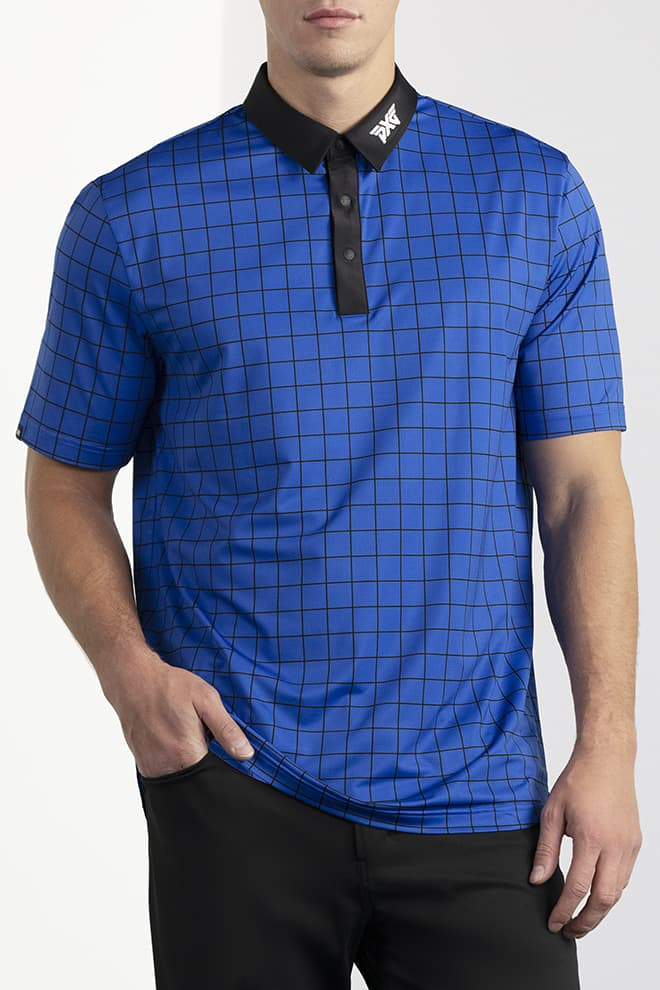 Comfort Fit Checkered Polo Image 0
