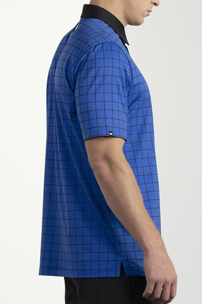 Comfort Fit Checkered Polo Image 1