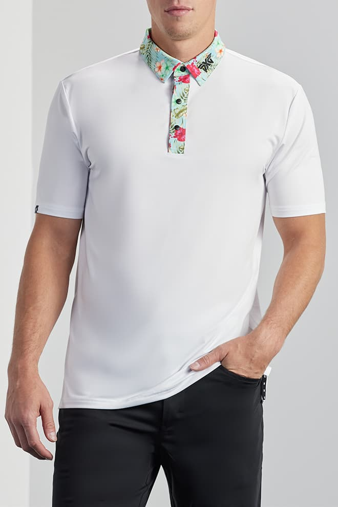 Comfort Fit Aloha Collar Polo Image 1