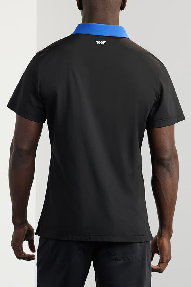 Athletic Fit Contrast Collar Polo Image 1