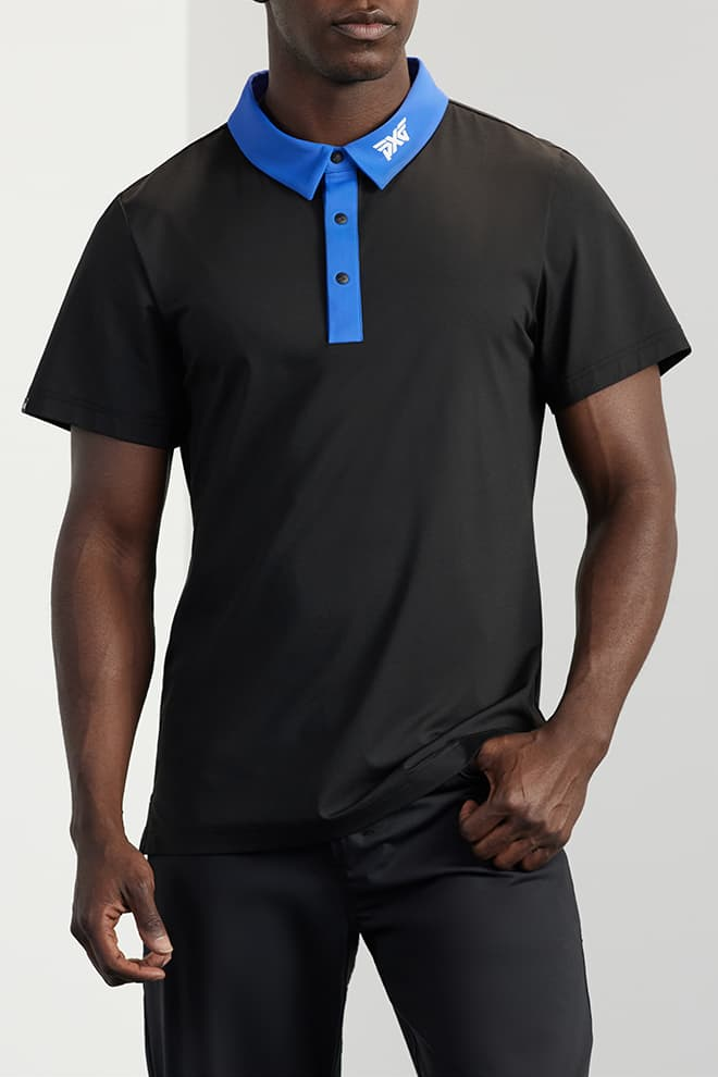 Athletic Fit Contrast Collar Polo Image 0