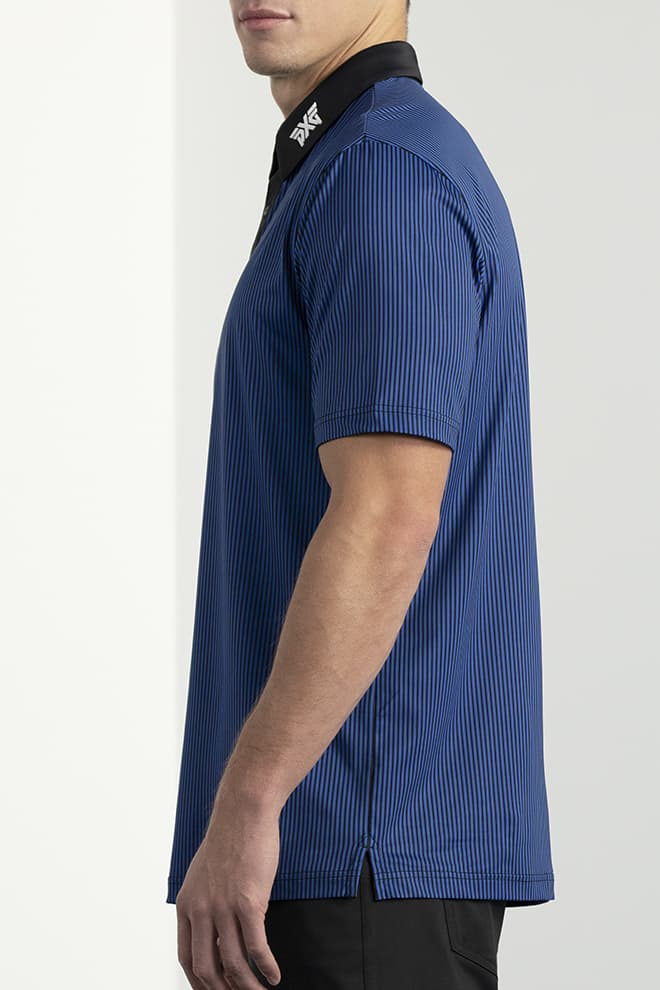Comfort Fit Pinstripe Contrast Polo Image 2