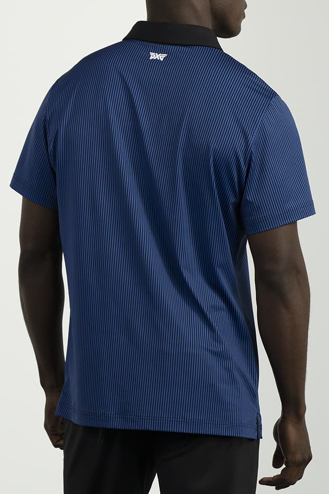 Athletic Fit Pinstripe Contrast Polo Image 4
