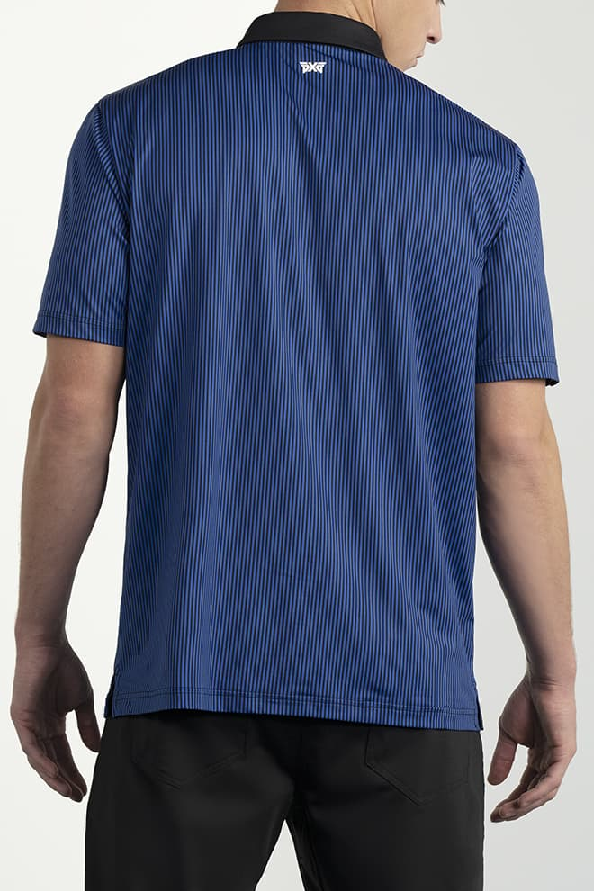 Comfort Fit Pinstripe Contrast Polo Image 4