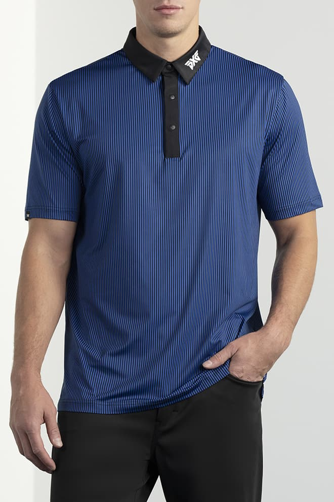 Comfort Fit Pinstripe Contrast Polo Image 1