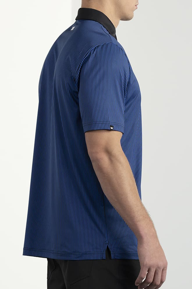 Comfort Fit Pinstripe Contrast Polo Image 3