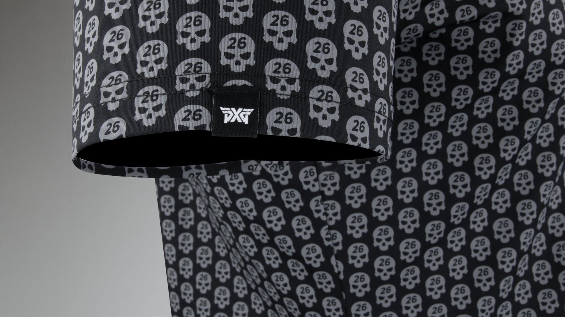 Athletic Fit Darkness Skull Polo Image 3