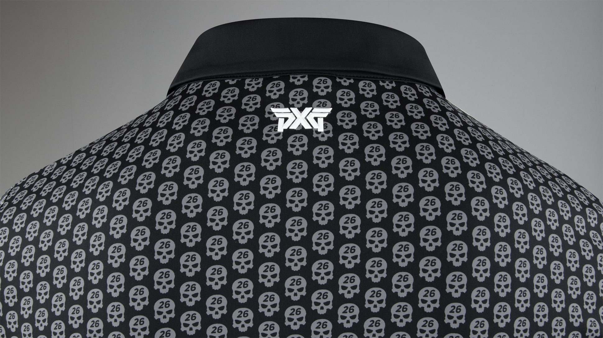 Athletic Fit Darkness Skull Polo Image 4