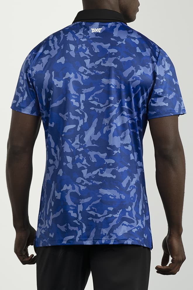 Athletic Fit Paratrooper Blue Fairway Camo™ Polo Image 4
