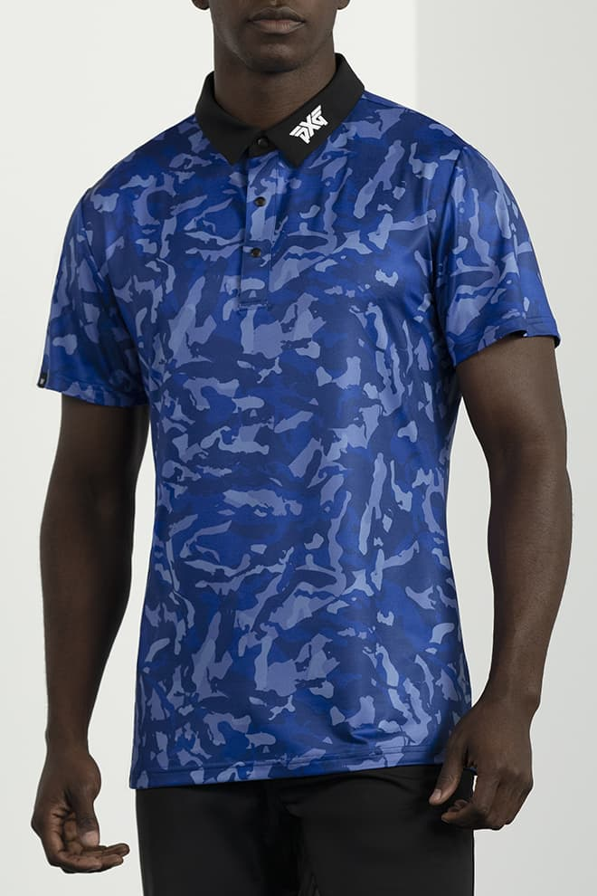 Athletic Fit Paratrooper Blue Fairway Camo™ Polo Image 1