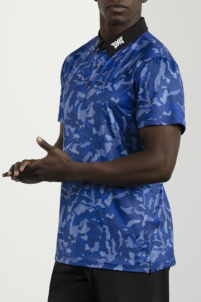 Athletic Fit Paratrooper Blue Fairway Camo™ Polo Image 3