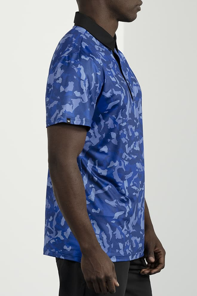 Athletic Fit Paratrooper Blue Fairway Camo™ Polo Image 2