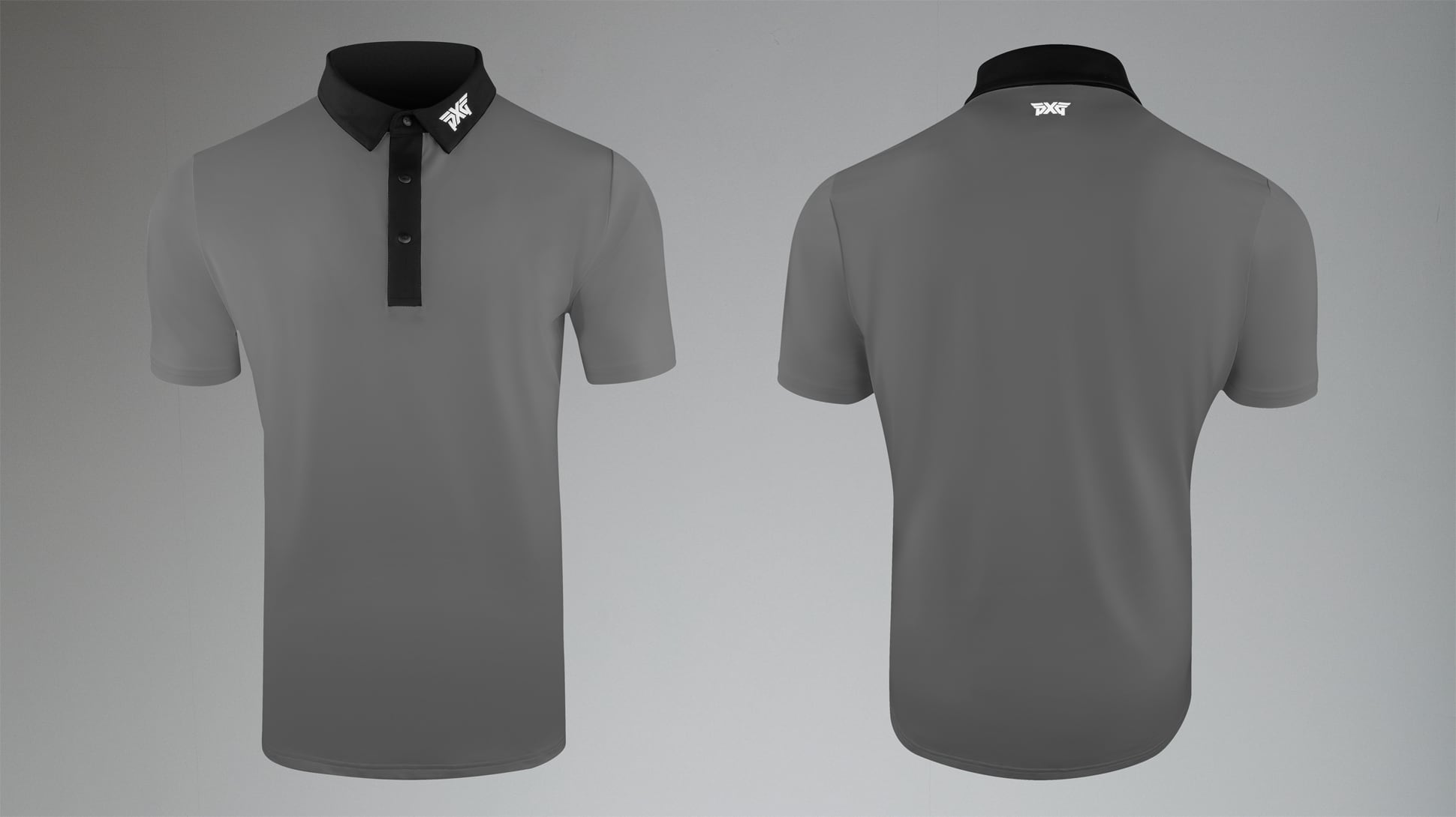 Athletic Fit Gray Tech Polo Image 1